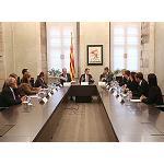 Foto de El presidente de la Generalitat recibe la nueva junta directiva de la Asociaci�n de Empresarios Corcheros de Catalu�a