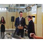 Foto de La empresa BioCurve, ganadora del primer premio a la Innovaci�n Tecnol�gica de Expobiomasa 2014