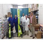Foto de Pramac y Guillermo Garc�a Mu�oz donan una transpaleta manual a C�ritas
