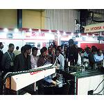 Picture of Gamor Presents his new roscadora hydraulics in Imtex (India)