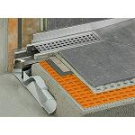 Picture of Schlter-Kerdi-Line-F Facilitates a low height of construction for linear drains