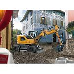 Picture of Liebherr a�na compacidad And power in his new excavator on tyres