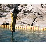Picture of Hammer HB 4100 of Atlas Copco for works of demolici�n underwater in Italy