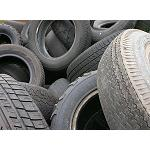 Picture of The rubber of tyres out of use in roads