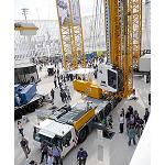 Picture of The mobile crane for construction Liebherr MK 140 flame the attention in Bauma 2013