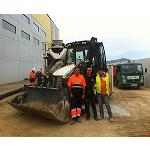 Picture of Technical services Napal purchases a retrocargadora Hidromek to face the hard works almerienses