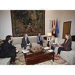 Picture of Asebio Gathers  with the president of the Government of Castile-La Mancha