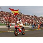 Picture of Repsol with Marc M�rquez, champion of the world of MotoGP