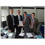 Picture of Tecnalia and the IFB sign an agreement of collaboration on technologies in compound materials
