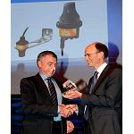 Picture of The team dates logger Sofrel LT-US rewarded in the Aquatech Innovation Awards 2013