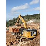 Picture of The first hybrid excavator Cat already is working in Spain to full performance