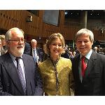 Picture of Arias Ca�ete, satisfied by the work realizar in the EU in defence of the Spanish interests