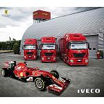 Foto de Tres Iveco Stralis Hi-Way, producidos en la planta de Madrid, para el equipo Ferrari de F�rmula 1