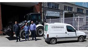 Foto de Una Hidromek 102B Serie Maestro muestra sus virtudes en tierras asturianas