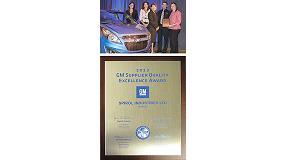 Foto de Spirol, premiada por General Motors por su excelente calidad como proveedor durante el a�o 2013
