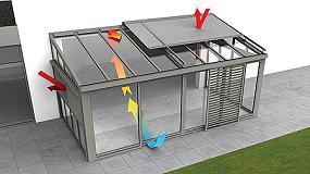 Foto de Una veranda o un techo acristalado para crear un ambiente agradable en la vivienda