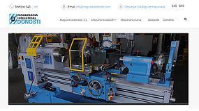Foto de Maquinaria Industrial Donosti renueva su página web
