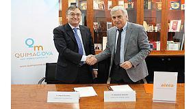 Foto de Quimacova y Ainia firman un acuerdo para impulsar la innovación en el sector químico en la Comunidad de Valencia