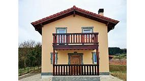Foto de El Grupo Kuusamo muestra sus casas de madera pasivas y ecol�gicas en Navarra