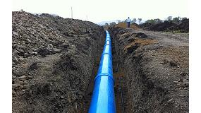 Foto de Tuberías TOM de PVC orientadas para conducción de agua de consumo humano