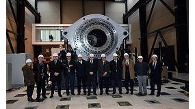 Foto de Visita del DG de Industria y Pyme del gobierno central al laboratorio de ensayo de aerogeneradores de Cener