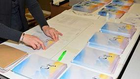 Foto de Material blanco y elegante de caras para embalajes de cart�n ondulado