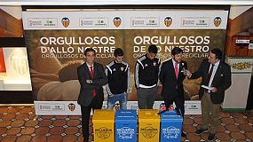 Foto de El Valencia CF participa en la campaña de reciclado de residuos de la Generalitat y Ecoembes