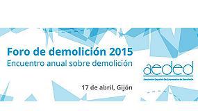 Foto de Aeded ultima los detalles del Foro de demolición 2015