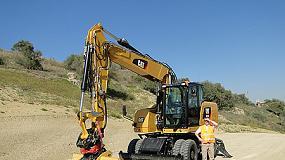 Foto de Las excavadoras de ruedas Cat M318F y M320F proporcionan mayor rendimiento y confort