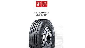 Foto de La banda de rodadura de los neumáticos para camión de Hankook, galardonada con el premio iF Design Award 2015