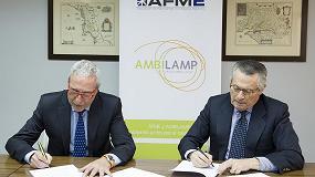 Foto de Afme y Ambilamp, firman un acuerdo de colaboración para la gestión de Raees