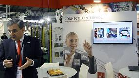 Fotografia de iTrak, toda una atracci�n en el stand de Rockwell Automation