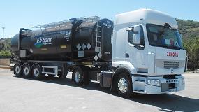 Foto de E-b-trans garantiza un transporte seguro de materiales peligrosos con los neum�ticos para camiones de Continental