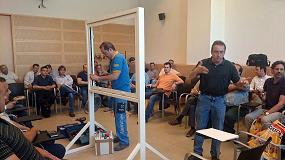 Foto de Technal en el primer curso de instalación de ventanas energéticamente eficientes del Icaen