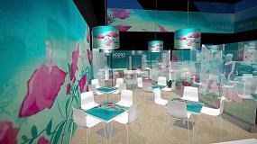 Foto de Epson utiliza elementos de diseño de interiores en su stand de Fespa 2015