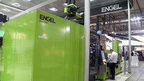 Foto de Engel tiñó de verde el pabellón 24 de Plast Milán