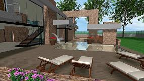 Picture of Dise�o 3D de jard�n y vivienda unifamiliar con Landscape3Design