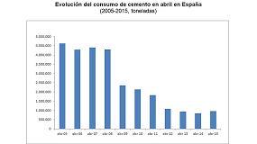Foto de El consumo de cemento crece un 13,3% en abril y un 9,7% en los cuatro primeros meses del año