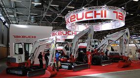 Foto de Takeuchi mostró en Intermat 2015 sus últimos modelos de excavadoras compactas