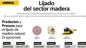Foto de Mirka crea nuevos pósteres para sus exclusivos procesos en Madera y Solid Surface
