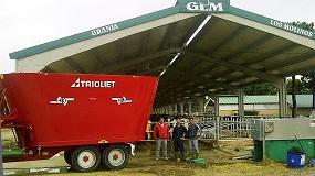 Picture of Ausama entrega un carro mezclador Trioliet de la mano de su distribuidor Talleres L�zaro