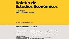 Foto de El Boletín de Estudios Económicos de Deusto publica un artículo de Ega Master