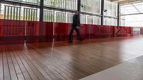 Foto de El roble blanco estadounidense, presente como pavimento en el pabell�n de EE UU de Expo de Mil�n 2015