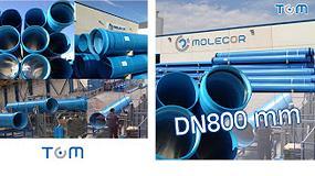 Foto de Molecor presenta la primera tubería de PVC orientado de 800 mm de diámetro