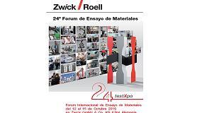 Foto de Zwick Ib�rica presenta la 24� edici�n de testXpo, el F�rum Internacional de Ensayo de Materiales