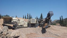 Foto de Máximo rendimiento de trituración y cribado en las instalaciones de Explotaciones Arrioca en El Ejido