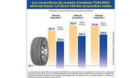 Fotografia de Los neum�ticos para cami�n Fuelmax de Goodyear ahorran hasta 1,6 litros cada 100 km