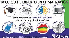 Foto de Atecyr convoca el IV curso de Experto en Climatización y de Auditor y Gestor Energético en la Edificación y la Industria