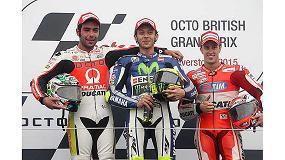 Foto de Pramac se sube al podio en el Gran Premio de Gran Breta�a de Motociclismo