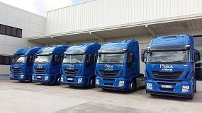 Foto de Lógica Aranda amplía su flota con cinco nuevos camiones Iveco Stralis Hi-Way